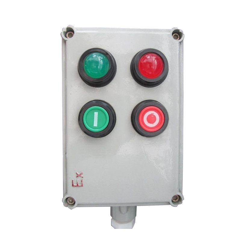 Cast Aluminum Ex Push Button Control Station , IP65 Flameproof Switch Panel